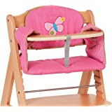"""Hauck Le coussin pour chaise haute Comfort """"Butterfly"""" accessoires chaise haute, rose"""