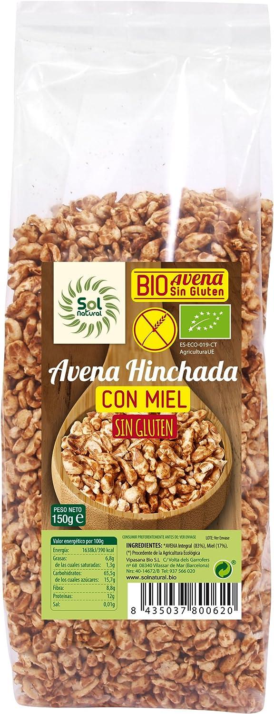 Avena hinchada con miel SOL NATURAL (150 gr)