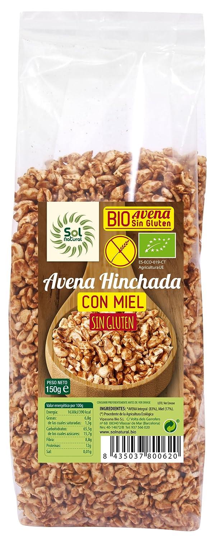 Sol Natural - Avena Hinchada con Miel, sin Gluten,150 gr ...