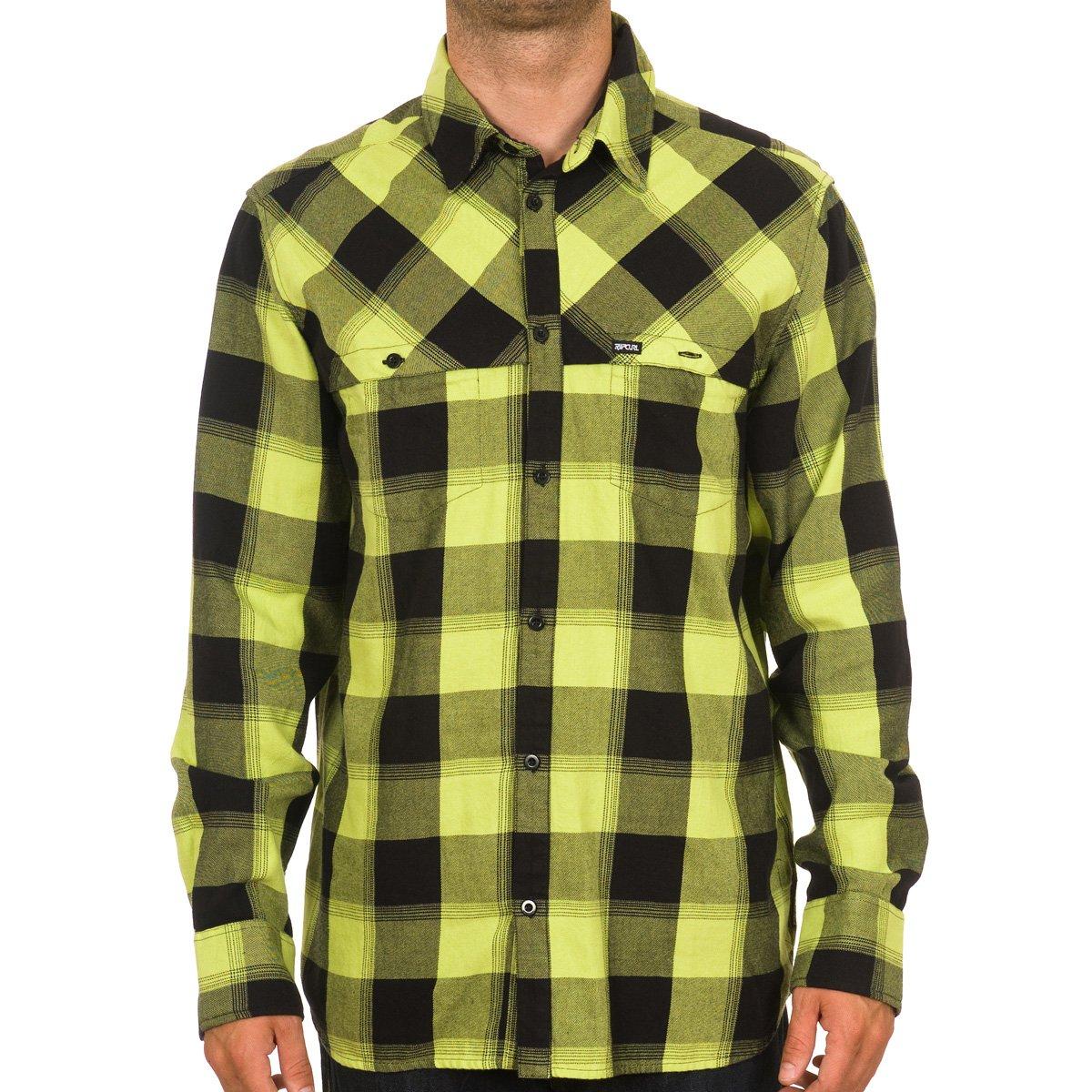 RIP CURL Hombre Camisa Buffalo Check Camiseta LS, Hombre, Tender Shoots: Amazon.es: Deportes y aire libre