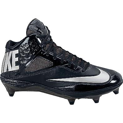 sale retailer 20b5a 21c30 Nike Mens Lunar Code Pro 3 4 D Football Cleats-Black Metallic Silver