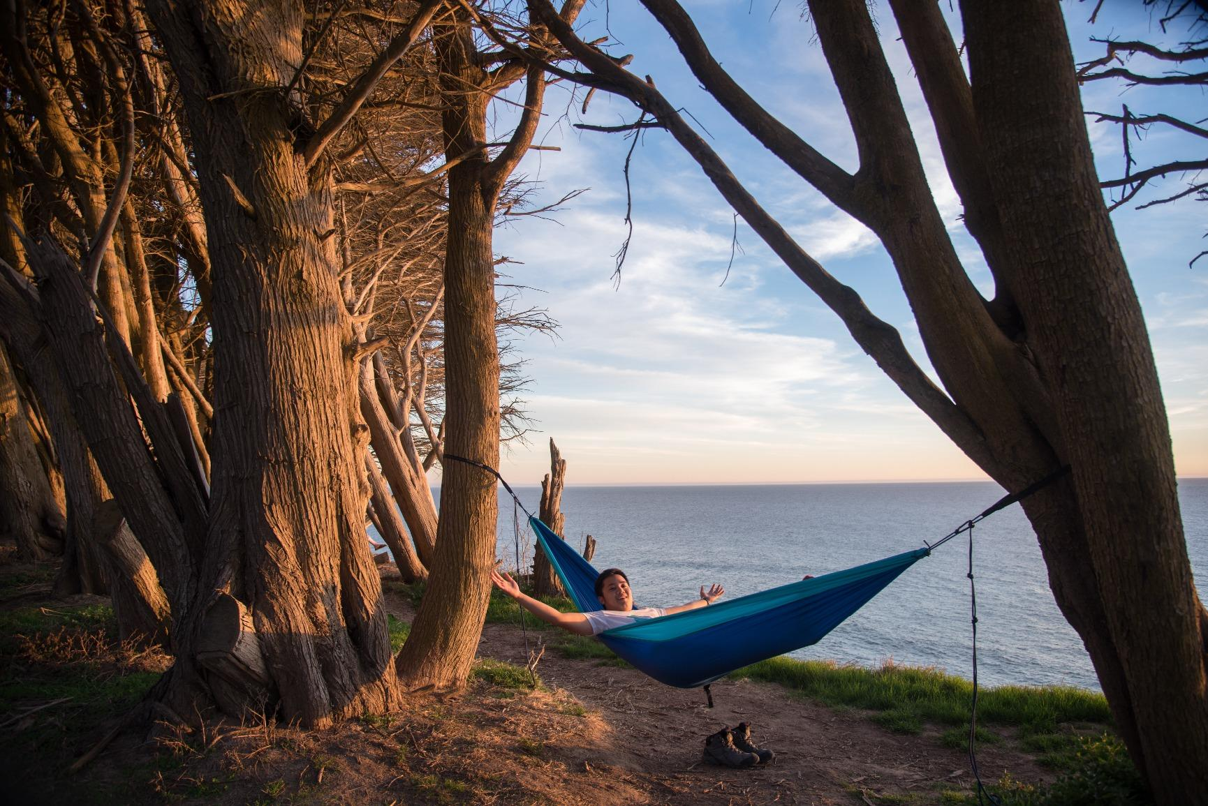 Winner Outfitters Double Camping Hammock-It's super light as well and can pack up to be really small
