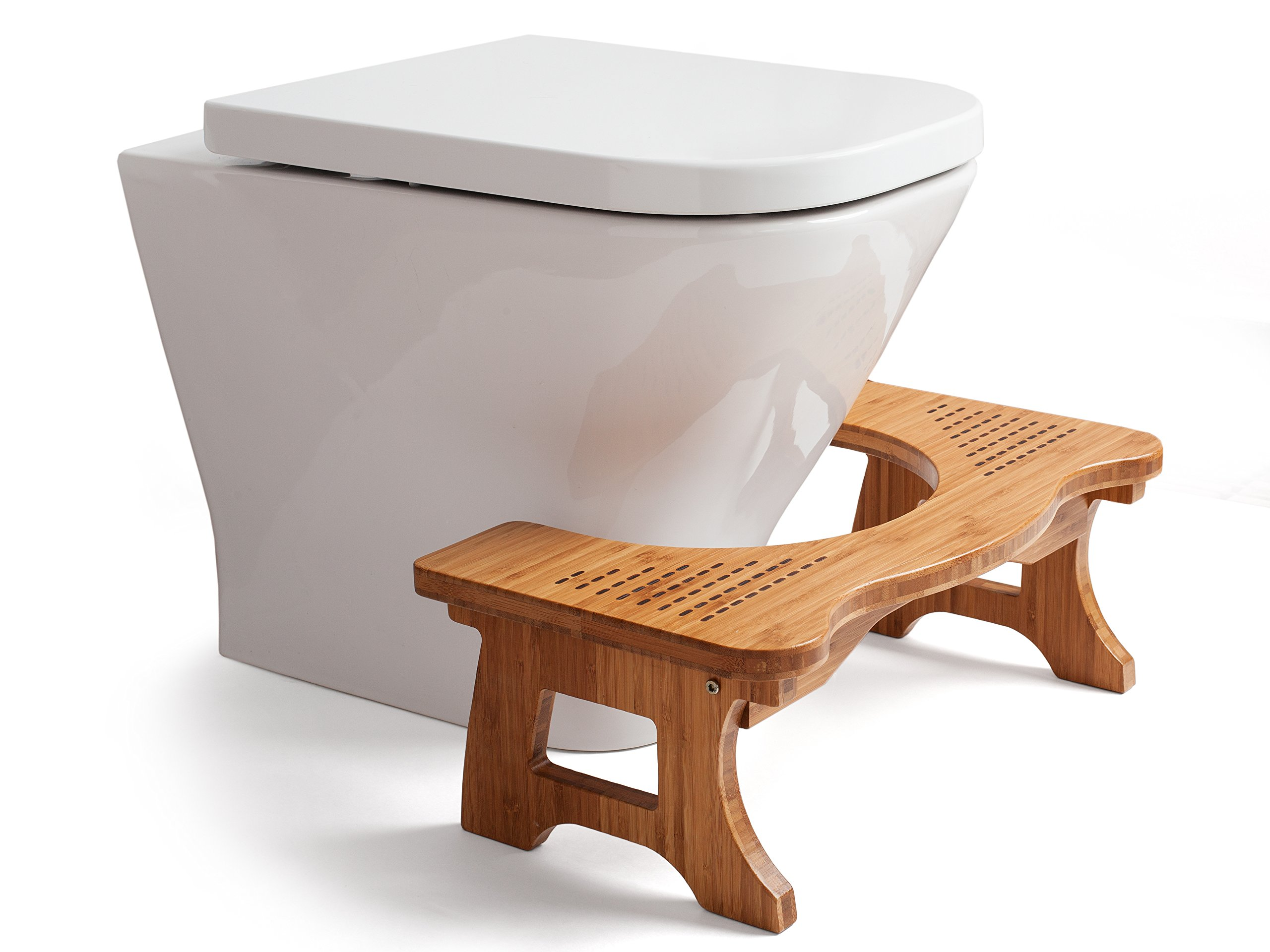 Superieur AA Wood Step Toilet Stool   Bamboo Toilet Chair   Squatting Bathroom Stool    7u201d Luxury Anti Slip Footrest For Adults, Kids Toddlers