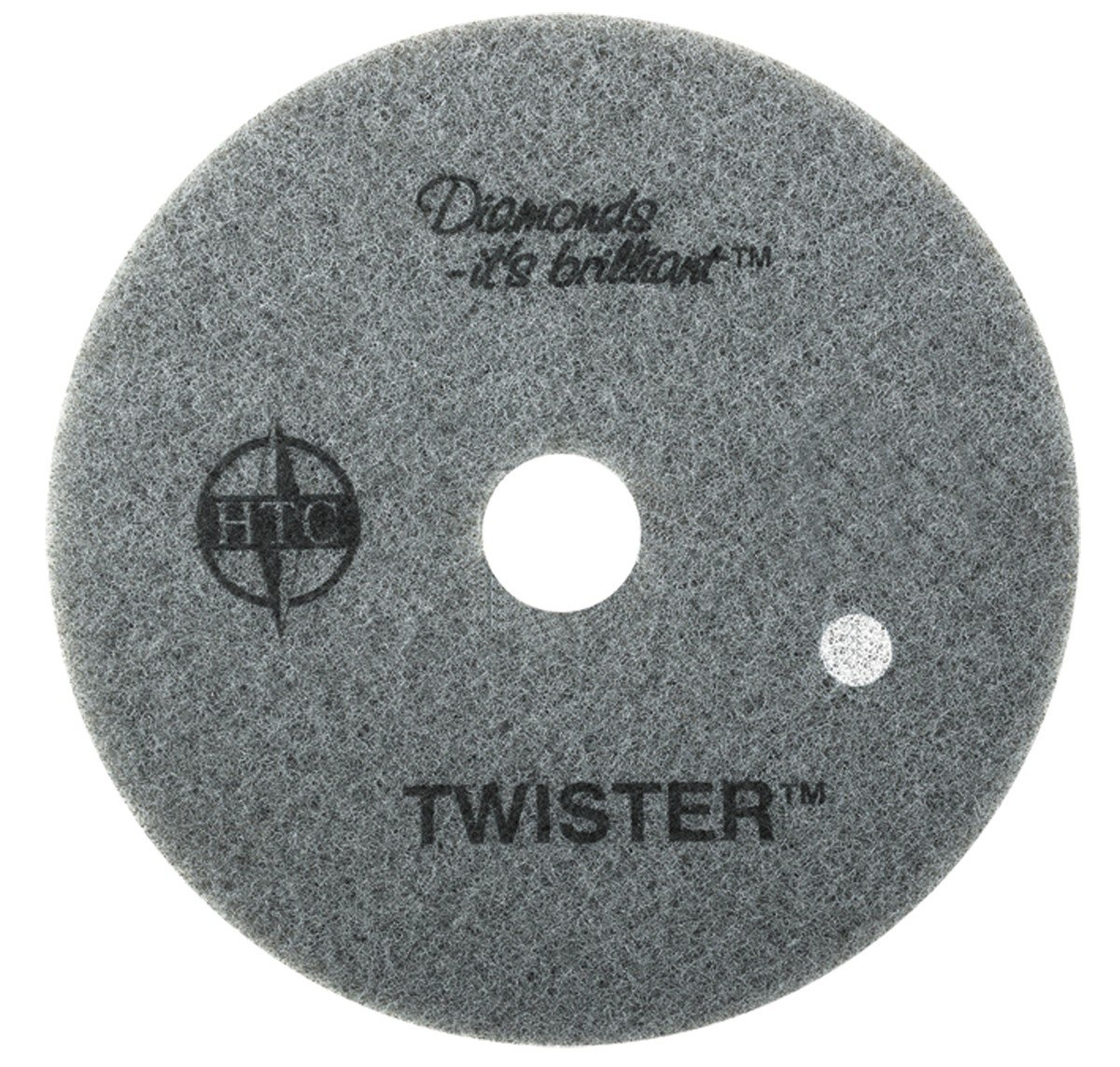 Twister™ Diamond Cleaning System 20'' White Floor Pad - 800 Grit - 2 per case