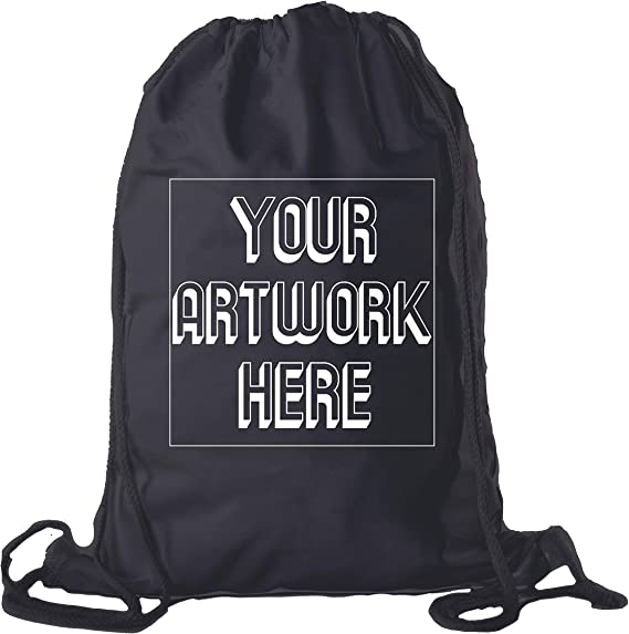 Personalized Party Favor 4pcs Peronalized Drawstring Backpack In Black And Gold Motif Gift for Bestfriend Custom Birthday Gift