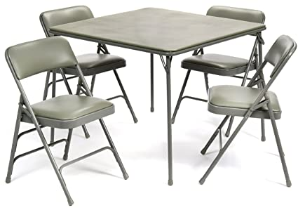 Amazoncom Pc XL Series Folding Card Table And Triple Braced - Commercial table and chair sets