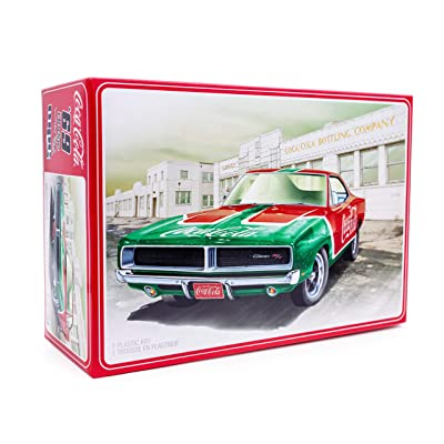 MPC 1969 Dodge Charger RT with Coca-Cola Decal - 1/25 Scale Snap-Together Model Kit - Buildable Vintage Muscle Vehicles for Kids and Adults: Toys & Games