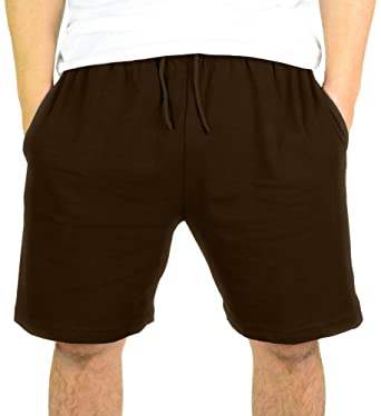Mato & Hash Mens 100% Drawstring Cotton Gym Shorts With Pockets at ...