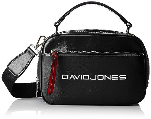 04b5327ea1f6 David Jones Cm5085, Women's Cross-Body Bag, Black, 9x15x21 cm (W x ...