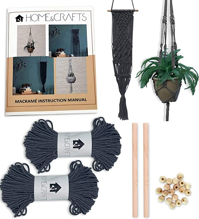 Macrame Wall Hanger Kit-Double Spirales-MWH003