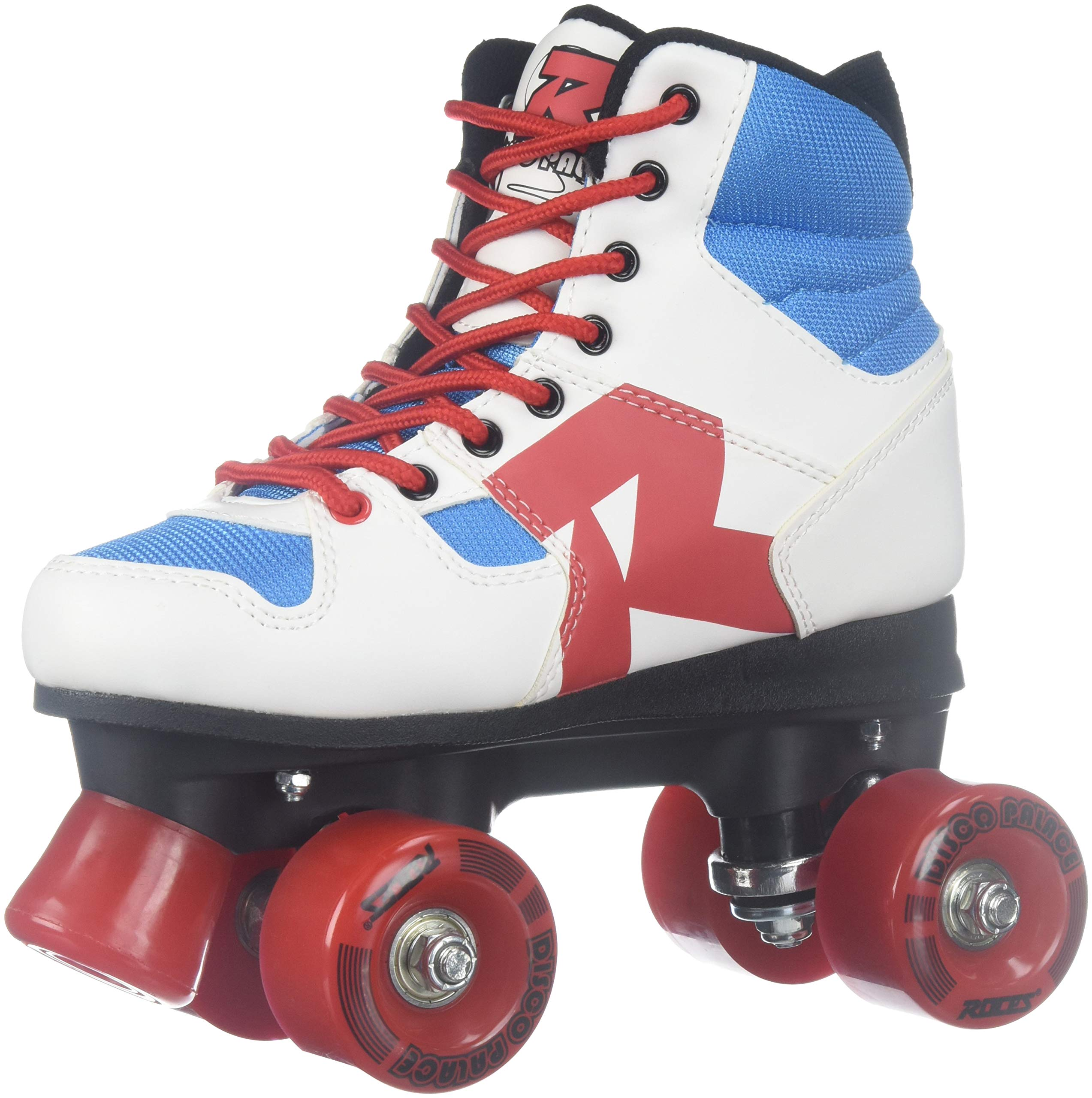 Roces 550039 Model Disco Palace Roller Skate, US 3M/5W, Red/White/Blue