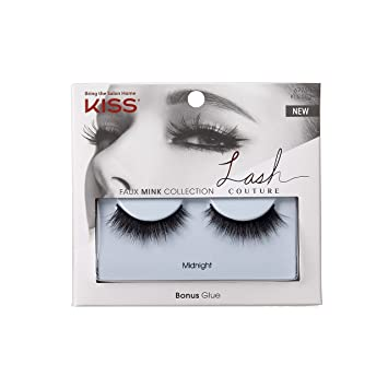 8f584efab84 Amazon.com: Kiss Lash Couture Faux Mink Midnight: Beauty