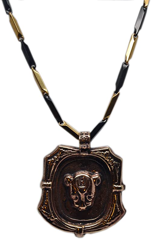 Isis KemetArt Egyptian Bronze Pendant with Stainless Steel Chain