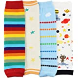 Dotty Fish Baby & Toddler Legwarmer Multi-packs - Girls & Boys - Packs of 4 with fun and colourful designs