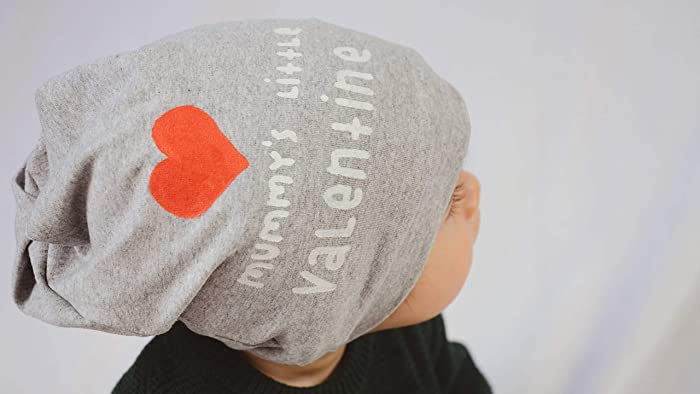 d475e2d561f Image Unavailable. Image not available for. Colour  Kids Valentines Grey  Baby Cotton Beanie Hat Newborn ...
