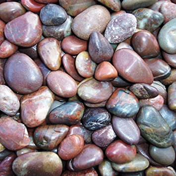 Red Stones For Garden Amazon exotic prs1030 polished pebble red 5 pounds outdoor exotic prs1030 polished pebble red 5 pounds workwithnaturefo