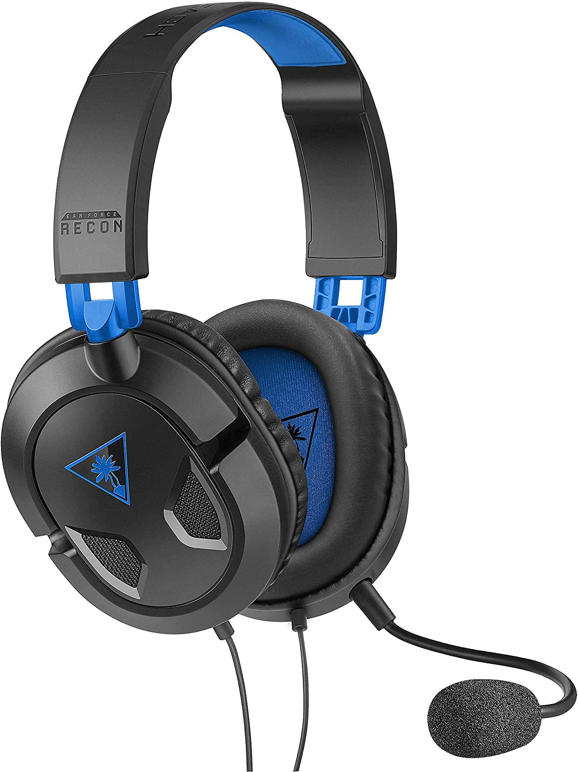 Turtle Beach Recon 50P Auriculares Gaming PS4, PS5, Xbox One, Nintendo Switch y PC, Negro / Azul: Amazon.es: Videojuegos