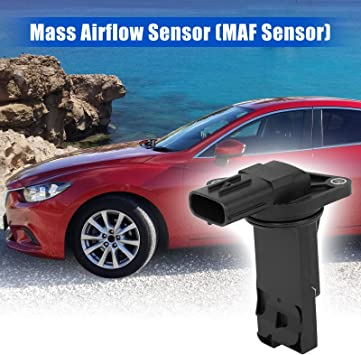 X AUTOHAUX Car Mass Air Flow Sensor Meter MAF Sensor Replacement for Mazda 6 2014 E5T62371 1525A031