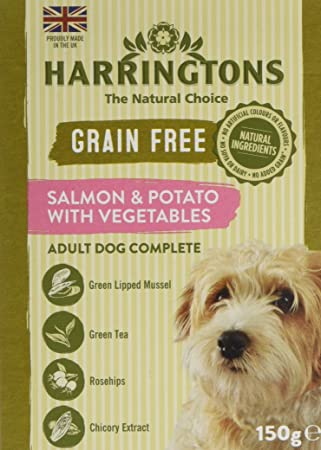 Harringtons Wet Salmon And Potato Dog Food 7 X 150 G