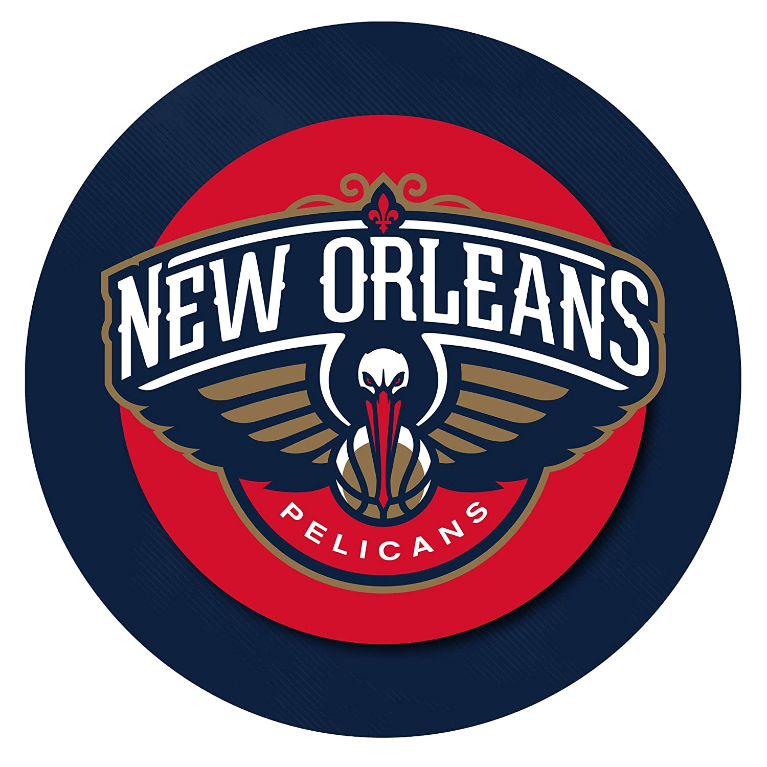 NBA New Orleans Pelicans Padded Swivel Bar Stool with Back