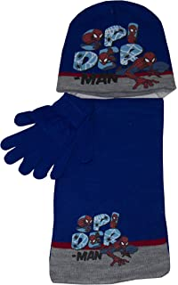 Marvel Spiderman - Set cappello  sciarpa  guanti per bambini e ... 769c636c333b