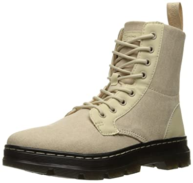 DrMartens Men's Combs Washed Us Canvas Combat Uk5 M BootSand4 CxoerdB