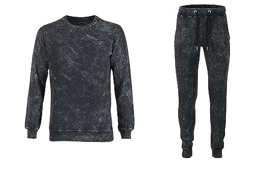 OutFit Designer Mens Stone Wash Summer Tracksuit: Amazon co uk: Clothing