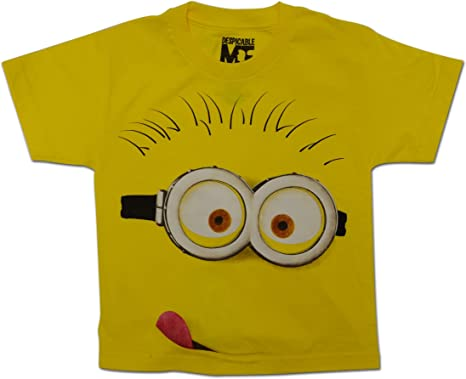 Despicable Me Minion Face Youth Kids T-Shirt