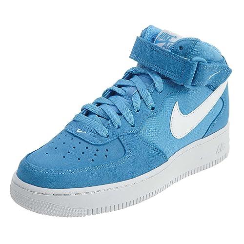 Herren Hi top trainers Nike AIR FORCE 1 MID 07 LE Weiß Blau