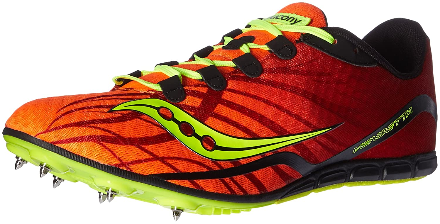 Saucony Men's Vendetta Track Spike Racing Shoe B01DAY6FNI 8.5 D(M) US|Orange/Citron
