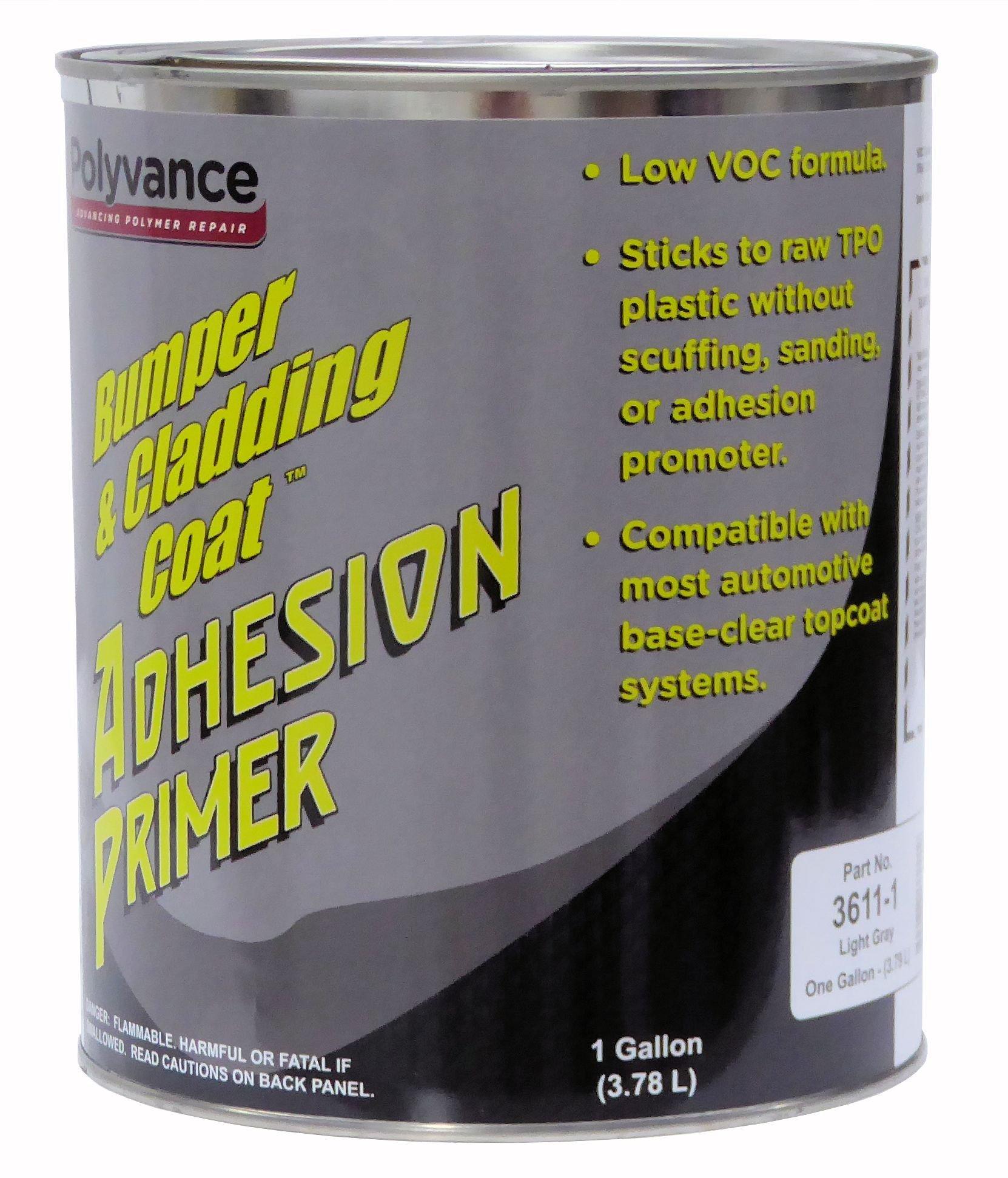 Bumper and Cladding Adhesion Primer, Low VOC, Light Gray, Gallon
