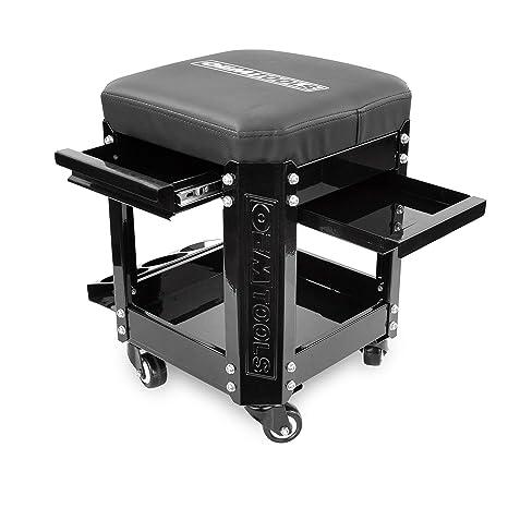 Amazon.com: OEMTOOLS - Asiento de taller con ruedas, con 2 ...