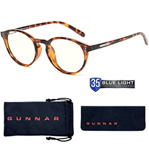 Computer Reading Glasses | Blue Light Blocking Reading Glasses| Attache Pwr 1.25/Tortoise by Gunnar | 35% Blue Light Protection, 100% UV Light, Anti-Reflective To Protect & Reduce Eye Strain & Dryness