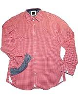 Hugo Boss Men's Casual Shirt red red