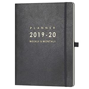 """2019-2020 Planner with Pen Holder - Weekly & Monthly Planner with Calendar Stickers, July 2019 - June 2020, Inner Pocket with 24 Notes Pages, A4 Premium Thicker Paper, 8.5"""" x 11"""""""
