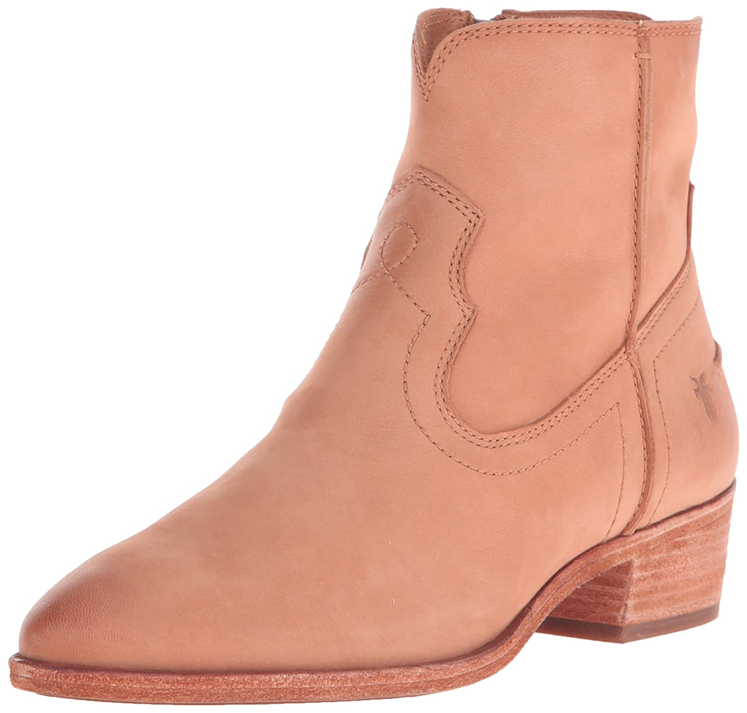 FRYE Women's Ray Seam Short Boot B01015MGLE 7.5 B(M) US|Camel Soft Oiled Leather-75884