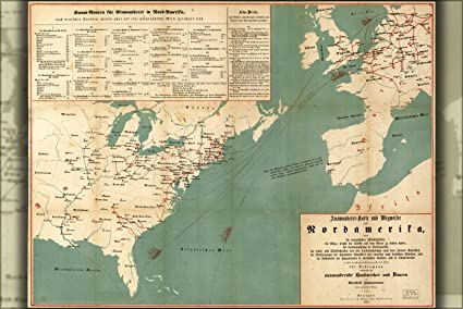 Amazon.com : 42x63 Poster; Immigration Map Of United States 1853 In on tourism map, us immigration review, united nations map, human rights map, business map, ireland immigration map, us immigration flyer, technology map, home map, homeland security map, us immigration timeline, property map, police map, european migration map, refugees map, us immigration rates, us immigration statistics, immigration mind map,