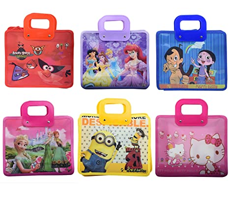 Asera 12 Pcs Cartoon Print Kids Handle Bags Shopping For Birthday Return Gifts