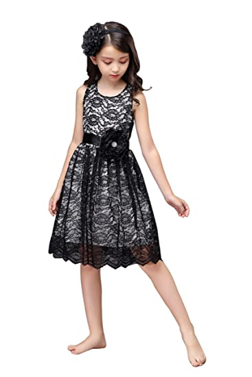 Amazon Shop Ginger Wedding Black Flower Girl Dress Lace