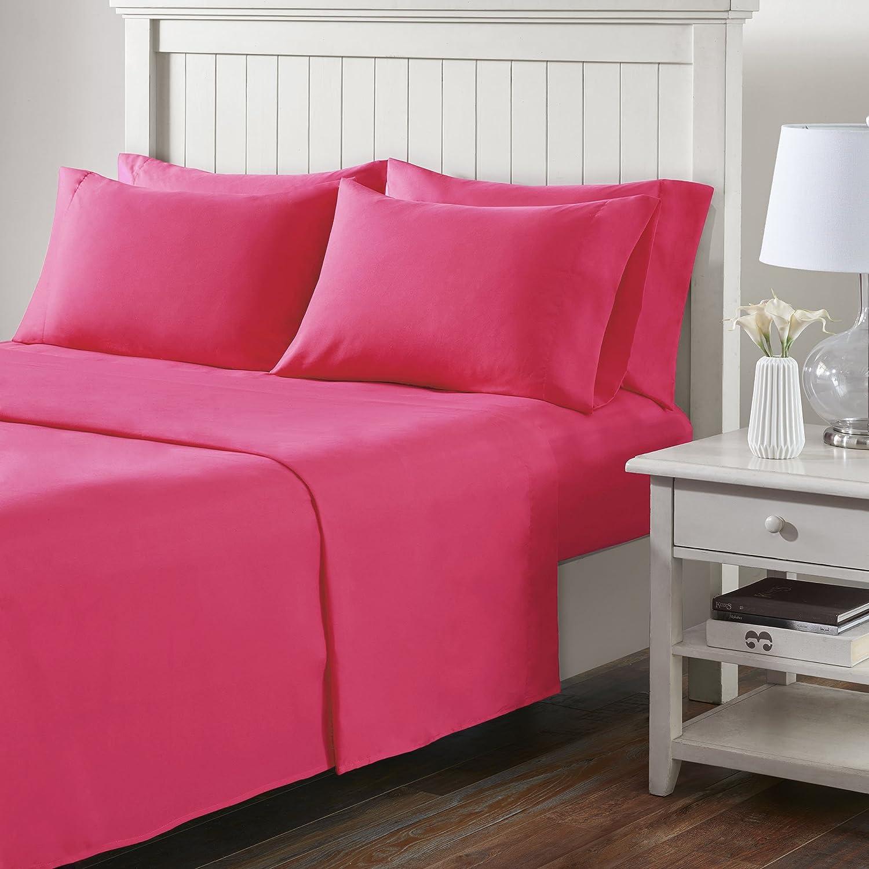 Comfort Spaces(コンフォートスペース) マイクロファイバーシーツセット キング ピンク CS20-0231 B072N1HTBD キング|ピンク ピンク キング