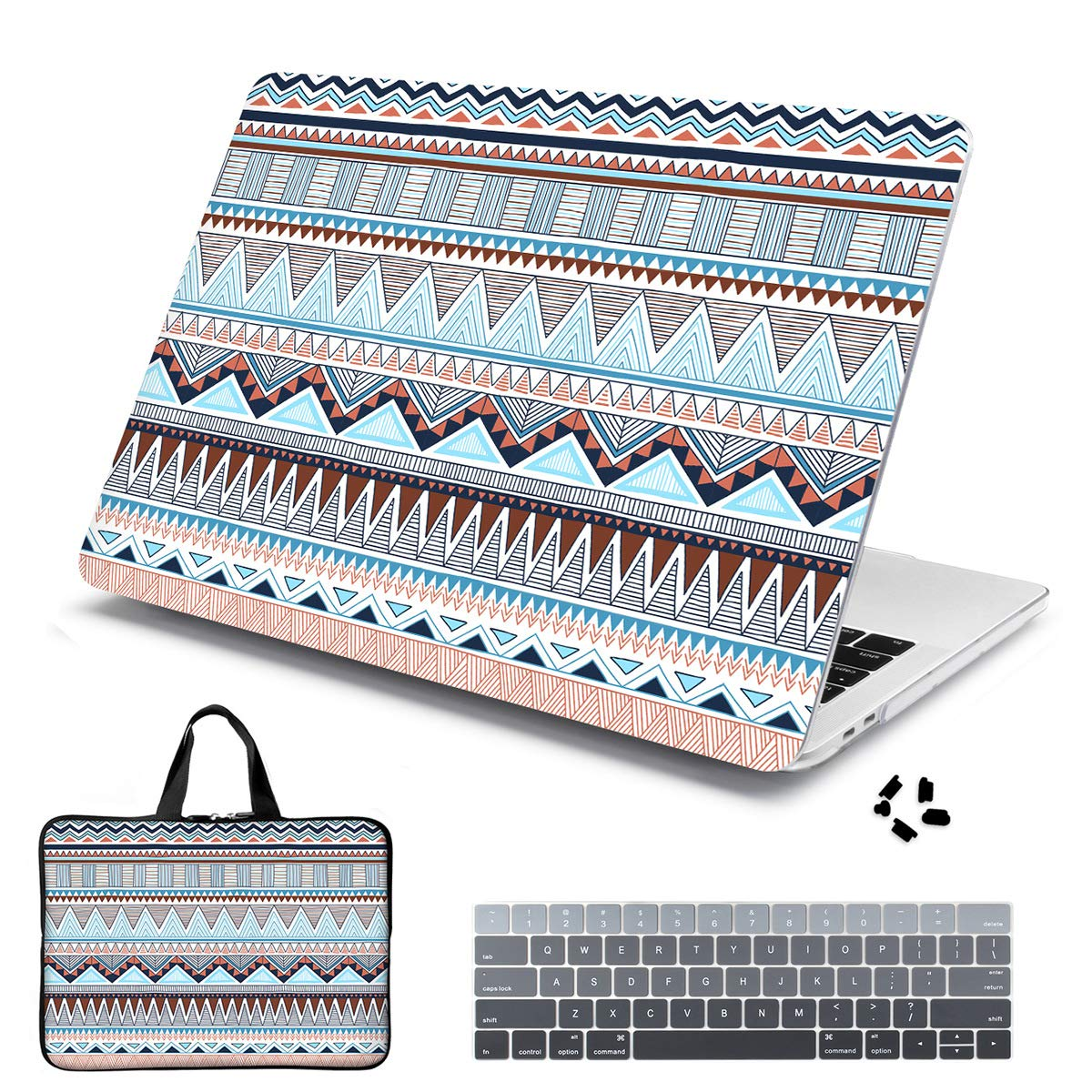 Batianda Laptop Sleeve with Handle Case for New MacBook Pro 13'' (2019/2018/2017/2016, with/no Touch Bar,Model A1706/A1708/A1989/A2159) Keyboard Cover (4 in 1 Bundle) Hard Shell (European Style) by Batianda