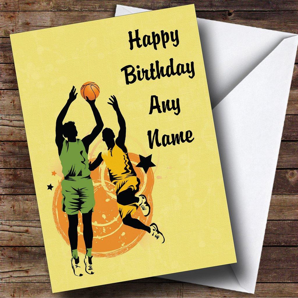 Amarillo personalizado de jugadores de baloncesto Tarjeta de ...