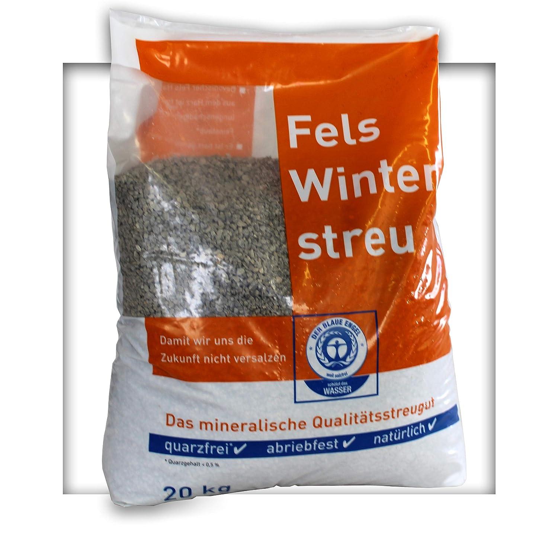 20 kg umweltfreundlicher Streusplitt Kalksplitt Streugut 2/5mm Salzfrei Winterstreu Slitt ohne Salz KiesKönig
