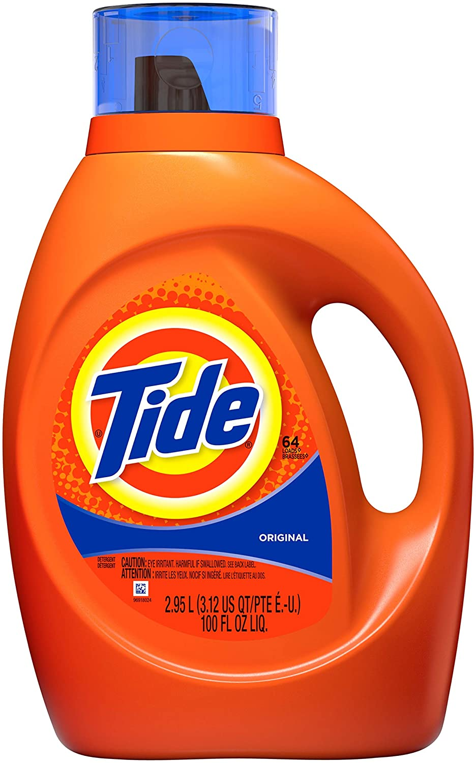 Tide Original Scent Liquid Laundry Detergent, 100 Fl Oz (Packaging May Vary)