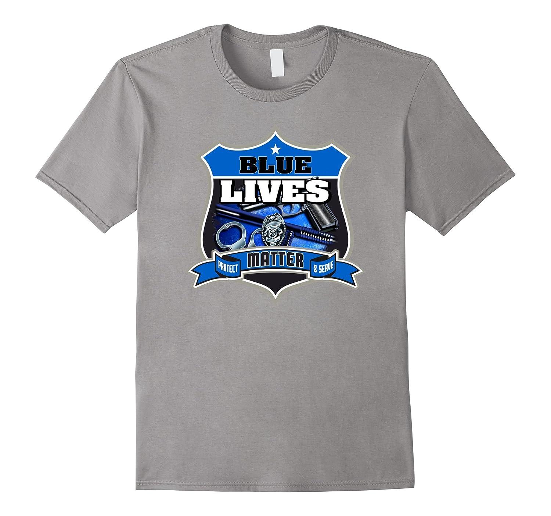 Blue Lives Matter Shirt Support Police Cops Law Enforcement-TD