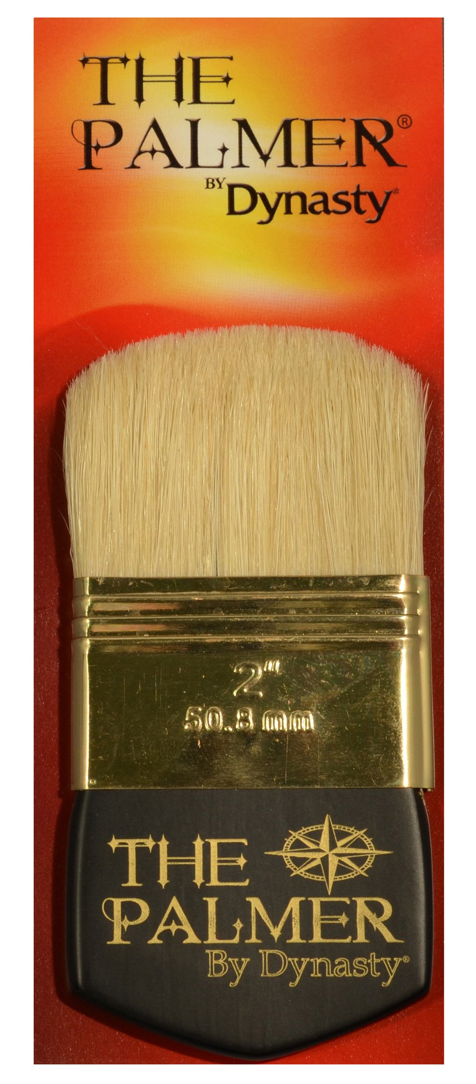 Dynasty Palmer Brush White Bristle 2In Filbrt