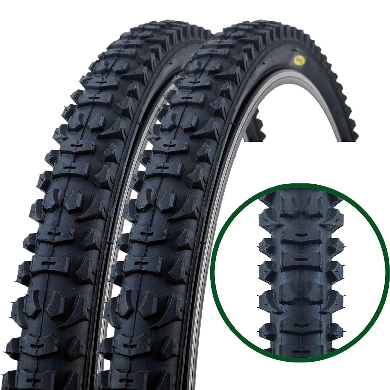 Fincci Par h/íbrida neum/áticos de Bicicleta de monta/ña Cubiertas 26 x 1,95 53-559 y Presta Tubos Interiores