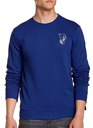 Amazon.com: Versace Royal Blue Logo Sweatshirt (M): Clothing