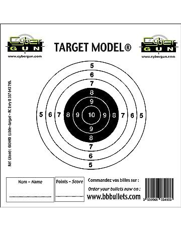 100 Air Fusil Tir Papier Cercle Cibles 14cm Pistolet Airsoft Pistolet 100g