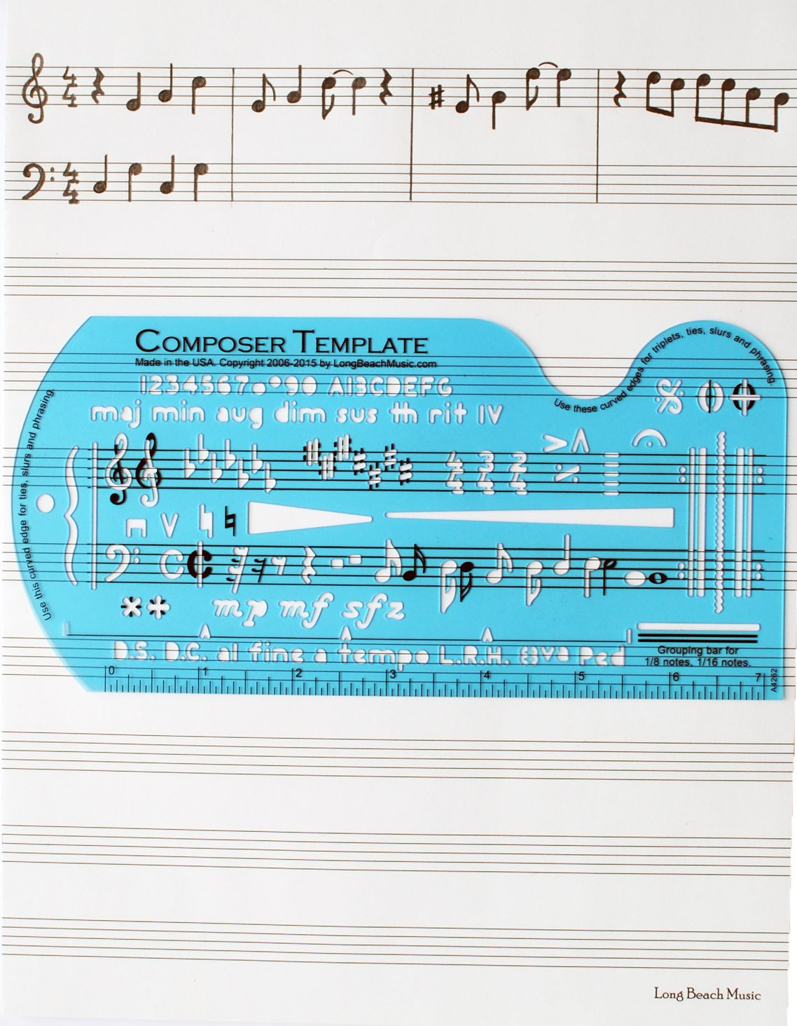 Amazon.com: Song Writer\'s Composing Template Stencil for Music Notes ...
